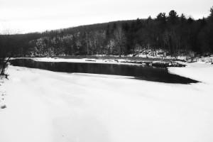 Deerfield River Moslty Frozen