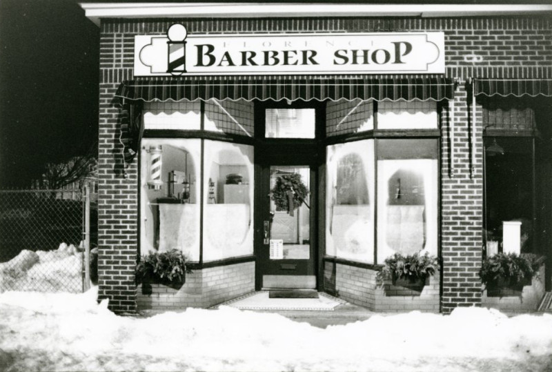 Barber Shop with Snow