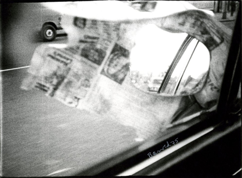 Car Mirror Newspaper