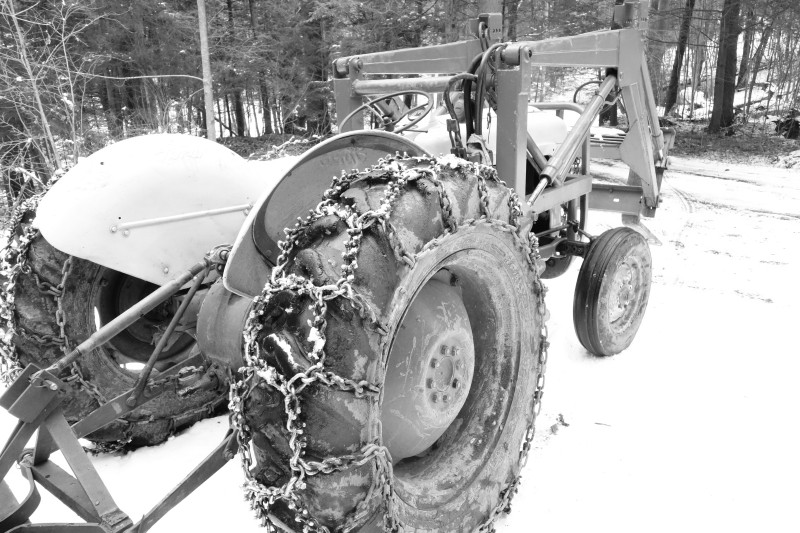 David's Tractor in Snow
