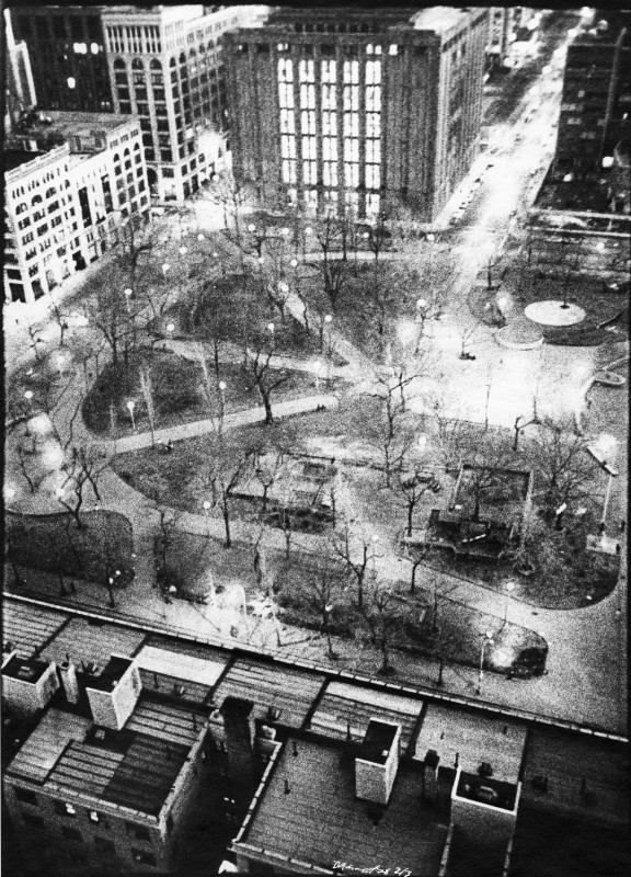 Washington Square from 1 Fifth Avenue NYC (collection Getty Museum)